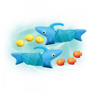 Melissa & Doug Sunny Patch Spark Shark Fish Hunt Pool Game With 2 Nets and 6 Fish to Catch
