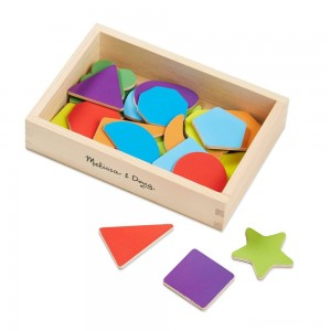 [BLACK FRIDAY] Melissa & Doug 25 Wooden Shape and Color Magnets in a Box