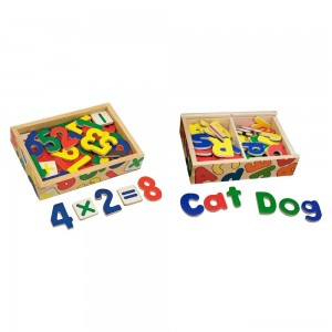 [BLACK FRIDAY] Melissa & Doug Deluxe Magnetic Letters and Numbers Set With 89 Wooden Magnets