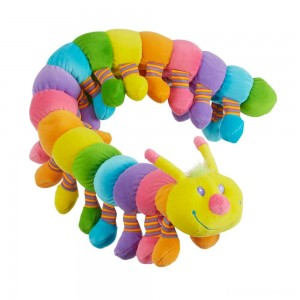 [BLACK FRIDAY] Melissa & Doug Longfellow Caterpillar - Rainbow-Colored Stuffed Animal With 32 Floppy Feet (over 2 feet long)