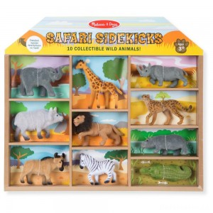 [BLACK FRIDAY] Melissa & Doug Safari Sidekicks - 10 Collectible Wild Animals