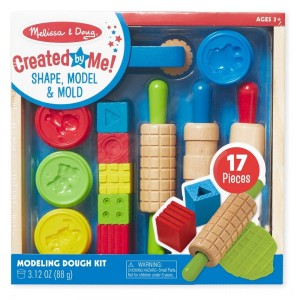 [BLACK FRIDAY] Melissa & Doug Shape, Model, and Mold Clay Activity Set - 4 Tubs of Modeling Dough and Tools