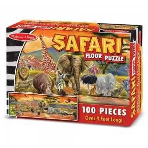 [BLACK FRIDAY] Melissa And Doug African Plains Safari Jumbo Floor Puzzle 100pc