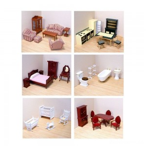 Melissa & Doug Classic Victorian Wooden and Upholstered Dollhouse Furniture (35pc)