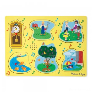 [BLACK FRIDAY] Melissa & Doug Nursery Rhymes 1 - Sound Puzzle 6pc