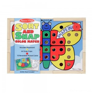 Melissa & Doug Sort and Snap Color Match - Sorting and Patterns Educational Toy