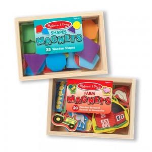 [BLACK FRIDAY] Melissa & Doug Wooden Magnets Set - Shapes and Farm (45pc)