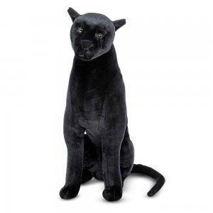 [BLACK FRIDAY] Melissa & Doug Giant Panther - Lifelike Stuffed Animal (nearly 3 feet tall)