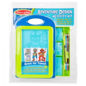 [BLACK FRIDAY] Melissa & Doug Adventure Design Activity Kit: 9 Double-Sided Plates, 4 Colored Pencils, Crayon