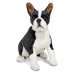 [BLACK FRIDAY] Melissa & Doug Giant Boston Terrier - Lifelike Stuffed Animal Dog