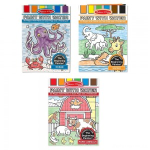 [BLACK FRIDAY] Melissa & Doug Paint With Water Activity Books Set: Farm, Ocean, Safari