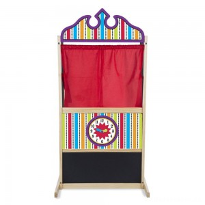 [BLACK FRIDAY] Melissa & Doug Deluxe Puppet Theater - Sturdy Wooden Construction