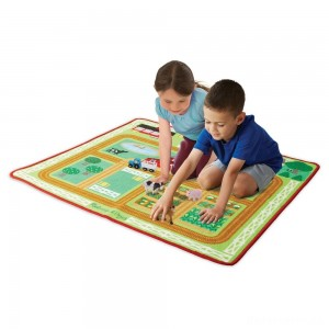 [BLACK FRIDAY] Melissa & Doug Round the Barnyard Farm Rug, Kids Unisex