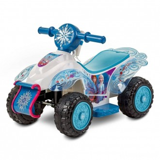 [BLACK FRIDAY] Frozen 2 Kid Trax Sing and Ride Toddler 6V Quad - White