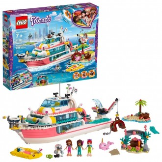 LEGO Friends Rescue Mission Boat 41381 Building Kit Sea Creatures for Creative Play 908pc [Sale]