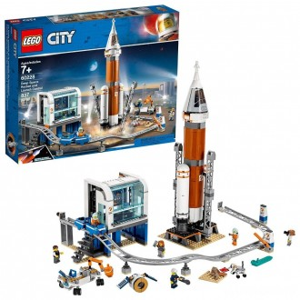 LEGO City Space Deep Space Rocket and Launch Control 60228 Model Rocket Building Kit with Minifigures [Sale]