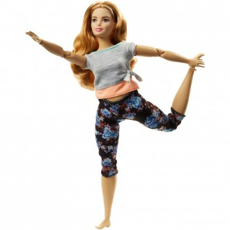 Barbie Made To Move Doll - Floral Peach [Sale]