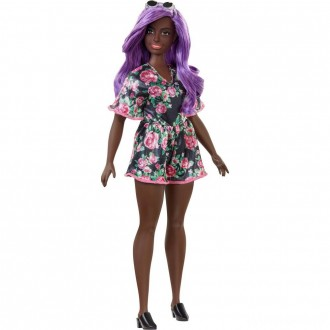 Barbie Fashionistas Doll #125 Black Floral Dress [Sale]