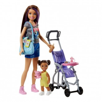 Barbie Skipper Babysitters Inc. Doll and Stroller Playset [Sale]