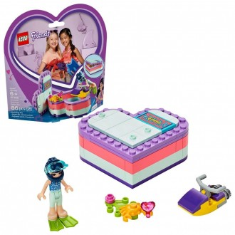LEGO Friends Emma's Summer Heart Box 41385 Building Kit with Toy Scooter and Mini Doll 83pc [Sale]