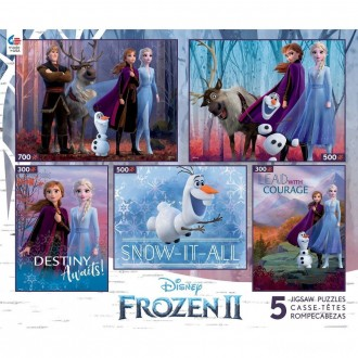 [BLACK FRIDAY] Ceaco Disney Frozen 2 5pk Puzzles 2300pc, Adult Unisex