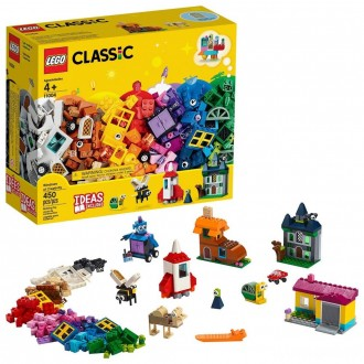 [BLACK FRIDAY] LEGO Classic Windows of Creativity 11004 Building Kit with Toy Doors for Creative Play 450pc