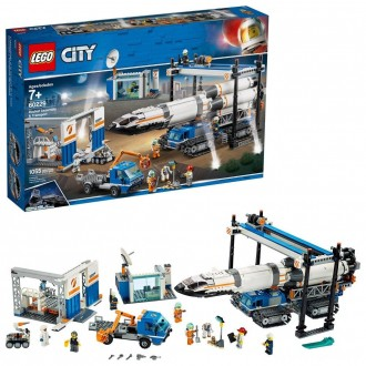 LEGO City Space Rocket Assembly & Transport 60229 Model Rocket Building Set with Toy Crane 1055pc [Sale]