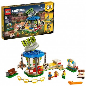 LEGO Creator Fairground Carousel 31095 Space-Themed Building Kit with Ice Cream Cart 595pc [Sale]