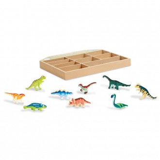 [BLACK FRIDAY] Melissa & Doug Dinosaur Party Play Set - 9 Collectible Miniature Dinosaurs in a Case