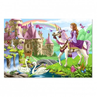 Melissa And Doug Fairy Tale Castle Jumbo Floor Puzzle 24pc