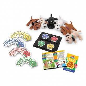 Melissa & Doug Puppy Pursuit Games - 6 Stuffed Dogs, 60 Cards - 10 Games With Variations