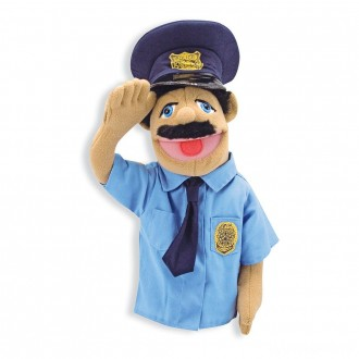 Melissa & Doug Police Officer Puppet With Detachable Wooden Rod