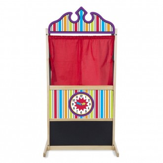 Melissa & Doug Deluxe Puppet Theater - Sturdy Wooden Construction