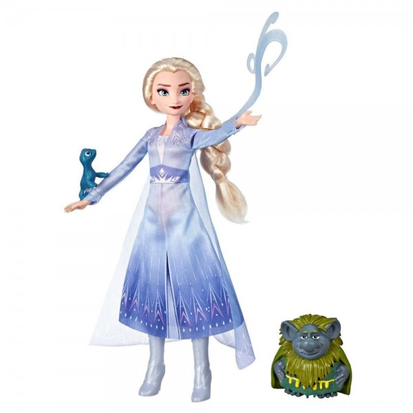 [BLACK FRIDAY] Disney Frozen 2 Elsa Fashion Doll In Travel Outfit With Pabbie and Salamander Figures
