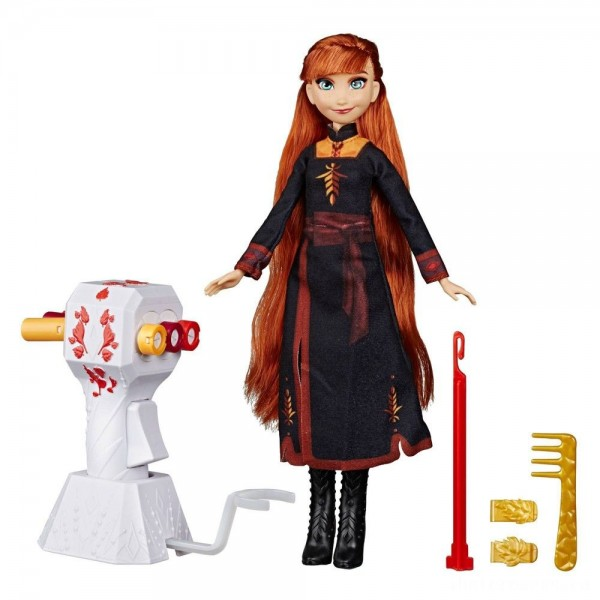 Disney Frozen 2 Sister Styles Anna Fashion Doll With Extra-Long Red Hair, Braiding Tool and Hair Clips [Sale]
