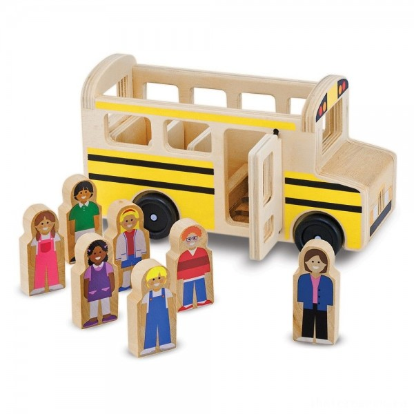 [BLACK FRIDAY] Melissa & Doug School Bus Wooden Play Set With 7 Play Figures