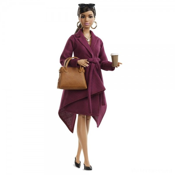 Barbie Signature Styled By Chriselle Lim Collector Doll in Burgundy Trench Dress [Sale]