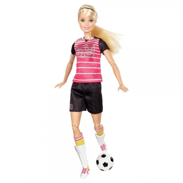 Barbie Made To Move Soccer Player Doll [Sale]