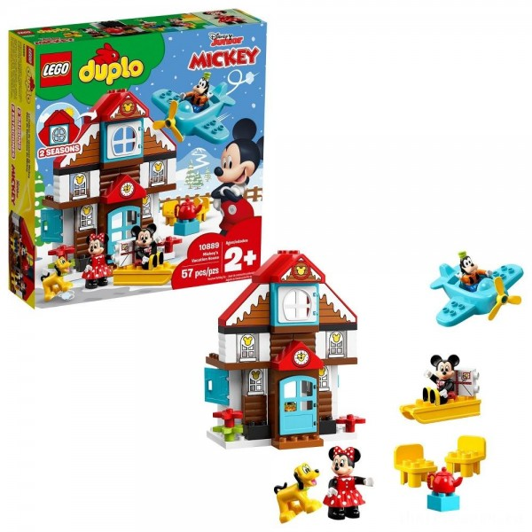 [BLACK FRIDAY] LEGO DUPLO Disney Mickey's Vacation House 10889 Toddler Building Set with Minnie Mouse