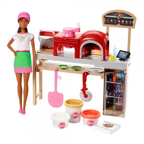 Barbie Careers Pizza Chef Nikki Doll and Playset [Sale]