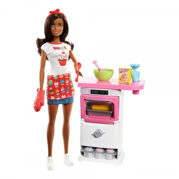 Barbie Bakery Chef Nikki Doll and Playset [Sale]