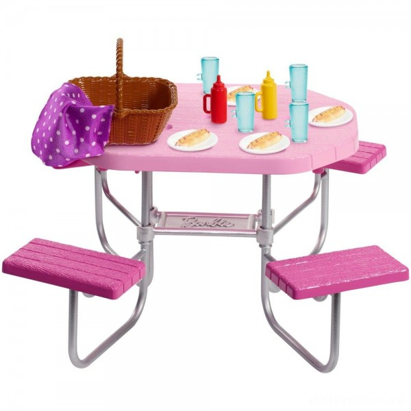 [BLACK FRIDAY] Barbie Picnic Table Accessory