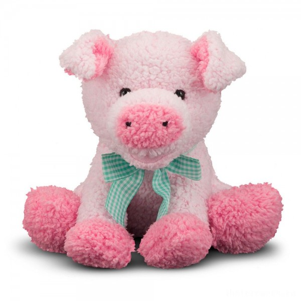 Melissa & Doug Meadow Medley Piggy - Stuffed Animal With Sound Effect