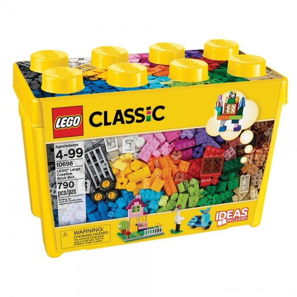LEGO Classic Large Creative Brick Box 10698 Build Your Own Creative Toys, Kids Building Kit [Sale]