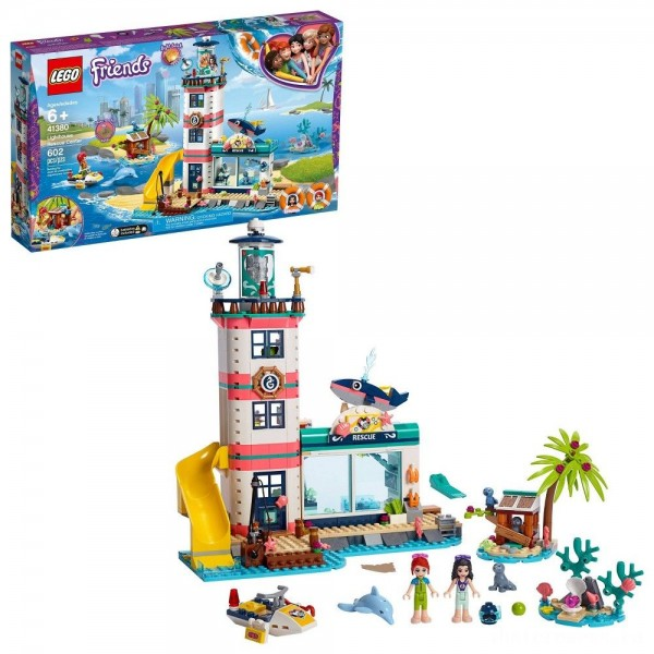 LEGO Friends Lighthouse Rescue Center 41380 Building Kit with Mini Dolls and Toy Animals 602pc [Sale]