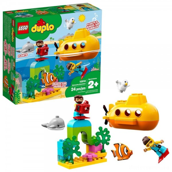 [BLACK FRIDAY] LEGO DUPLO Submarine Adventure 10910 Bath Toy Building Set for Toddlers with Toy Submarine 24pc