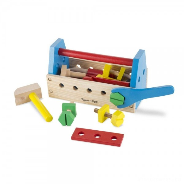 [BLACK FRIDAY] Melissa & Doug Take-Along Tool Kit Wooden Construction Toy (24pc)