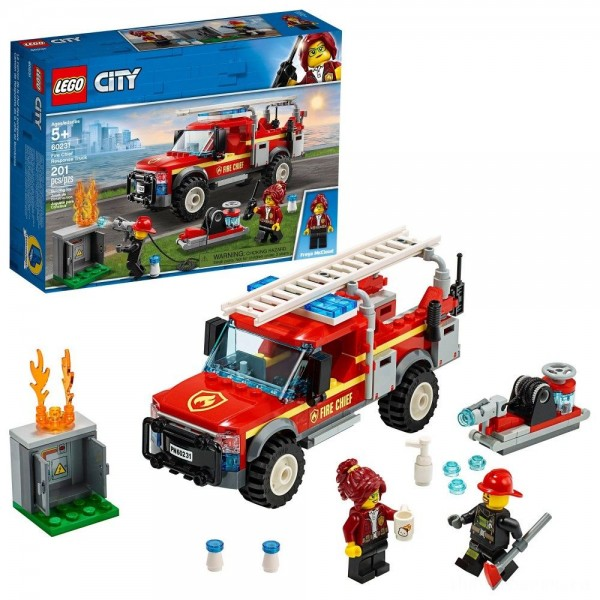LEGO City Fire Chief Response Truck 60231 Building Set with Toy Firetruck and Ladder 201pc [Sale]