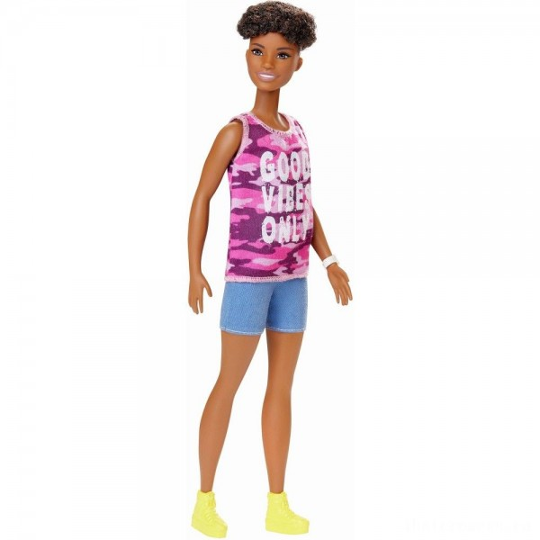 Barbie Fashionistas Doll #128 Good Vibes Only [Sale]