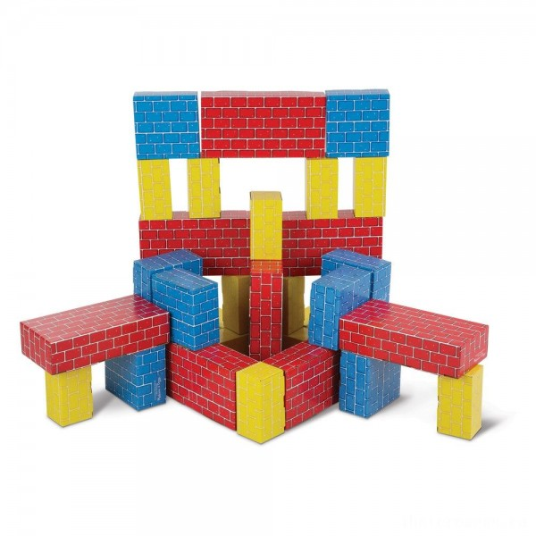 [BLACK FRIDAY] Melissa & Doug Lightweight Jumbo Cardboard Building Block Set - 40pc